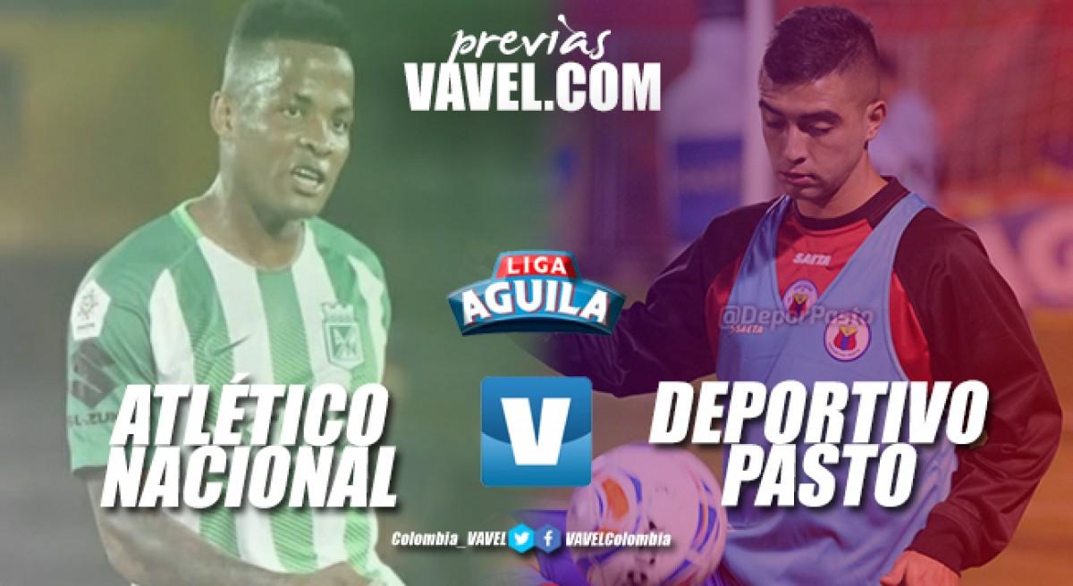 Previa Atlético Nacional vs Deportivo Pasto: el segundo contra el penúltimo
