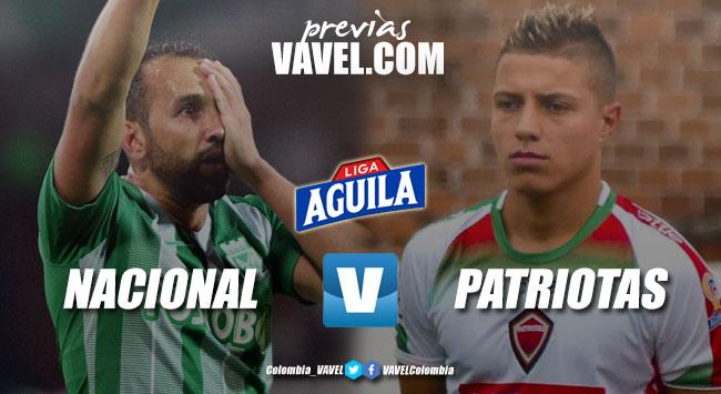 Previa Atlético Nacional vs Patriotas Boyacá: victoria y a los ocho