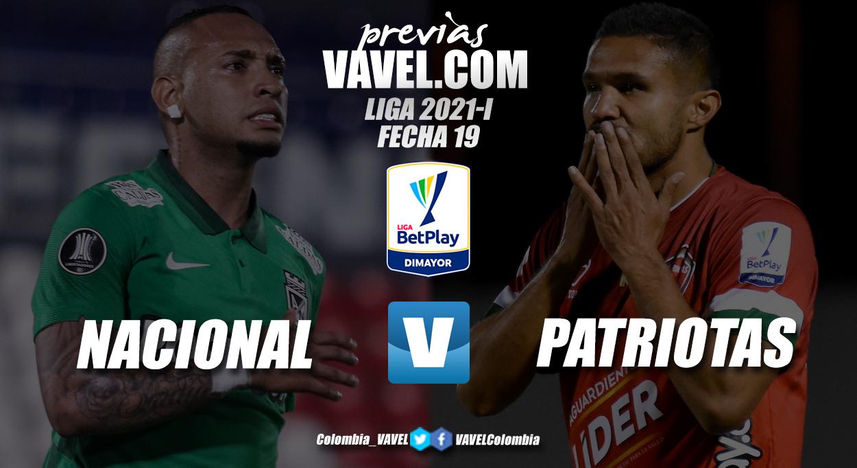 Previa Atlético Nacional vs Patriotas Boyacá: cierre de la fase regular