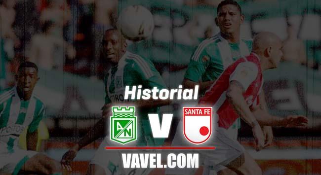 Historial: Atlético Nacional lidera los números frente a Independiente Santa Fe