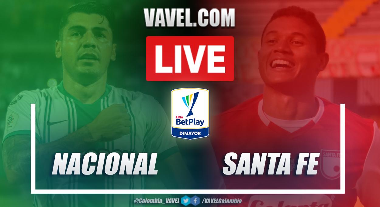 Resumen Nacional vs Santa Fe en Liga BetPlay 2021-I (2-0)