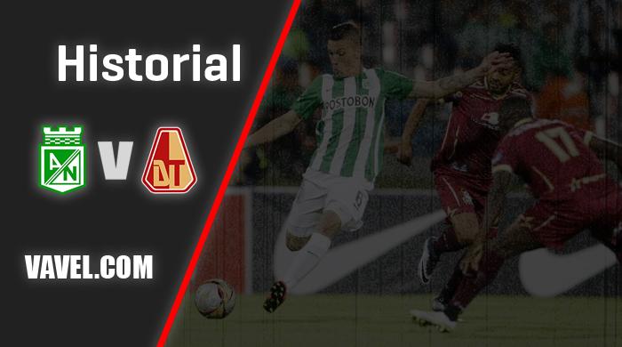 Historial, Atlético Nacional vs Deportes Tolima: estadísticas que marcan una rivalidad reciente