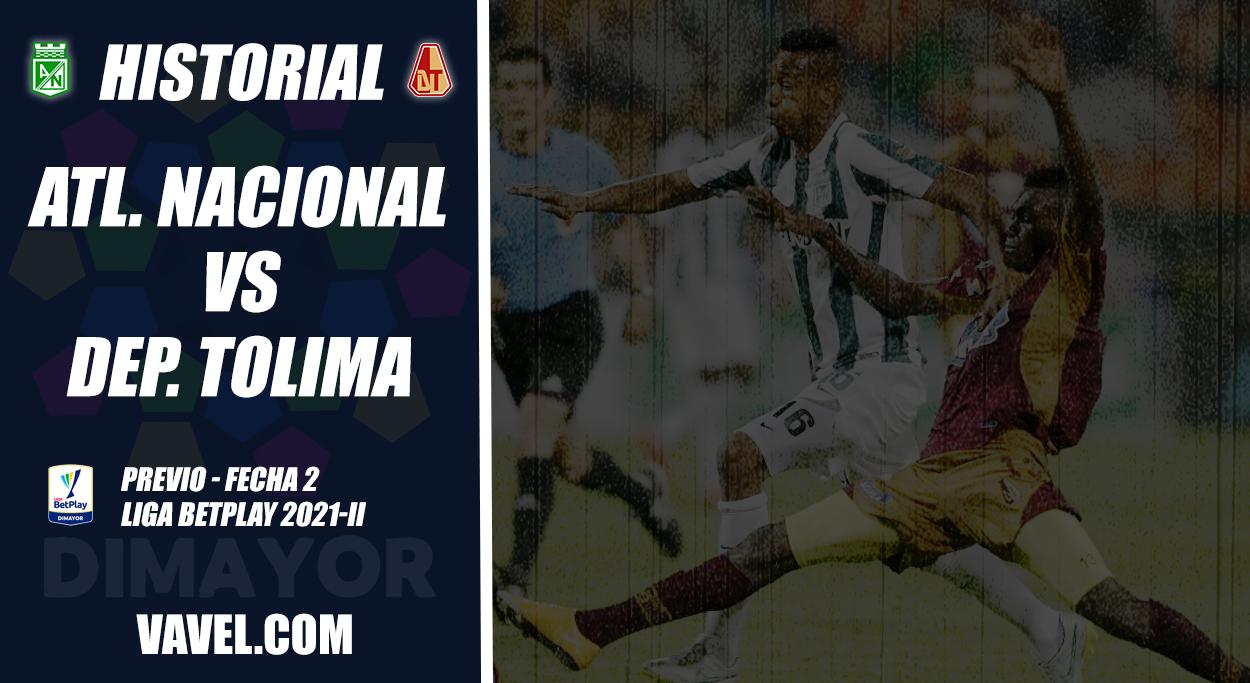 Historial Atlético Nacional vs Deportes Tolima: ventaja 'verdolaga'