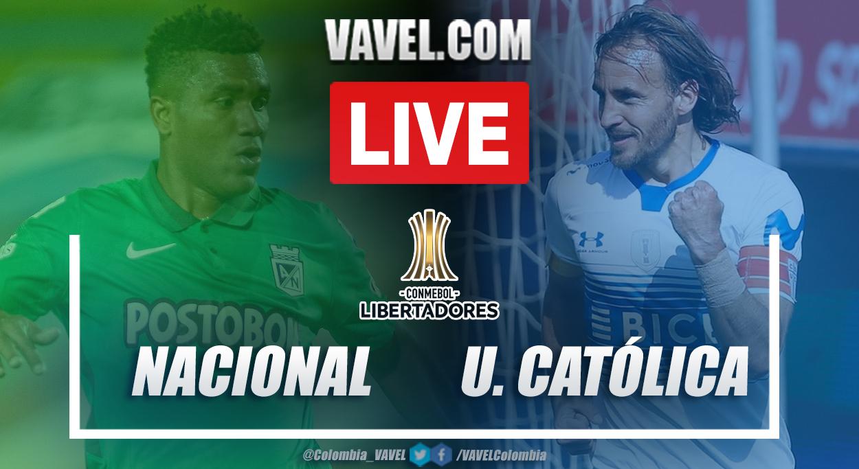 Resumen Atlético Nacional vs Universidad Católica (2-0) en la fecha 1 del grupo F por Copa Libertadores 2021