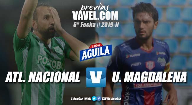 Previa Atlético Nacional vs Unión Magdalena: por volver al triunfo