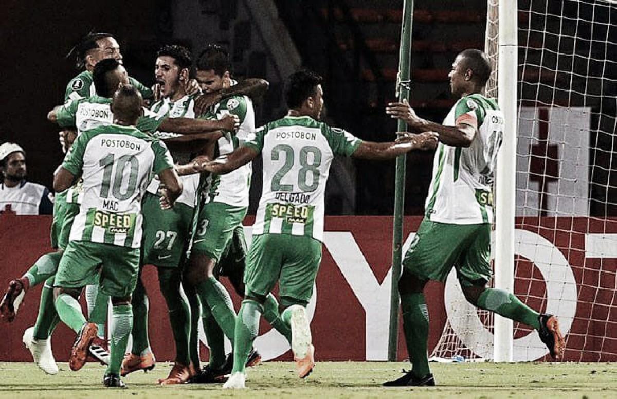 Atlético Nacional brilló en el Atanasio y puso un pie en la siguiente fase de la Libertadores
