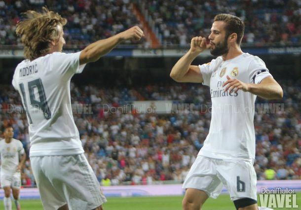 Nacho Fernández anota el primer gol de la temporada en el Bernabéu
