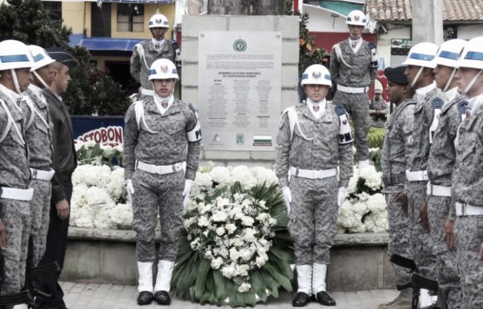 Atlético Nacional rindió homenaje a las víctimas y sobrevivientes del vuelo LAMIA 2933