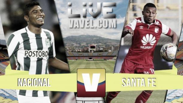 Resultado Atlético Nacional - Santa Fe en Liga Águila 2015-I (2-0)