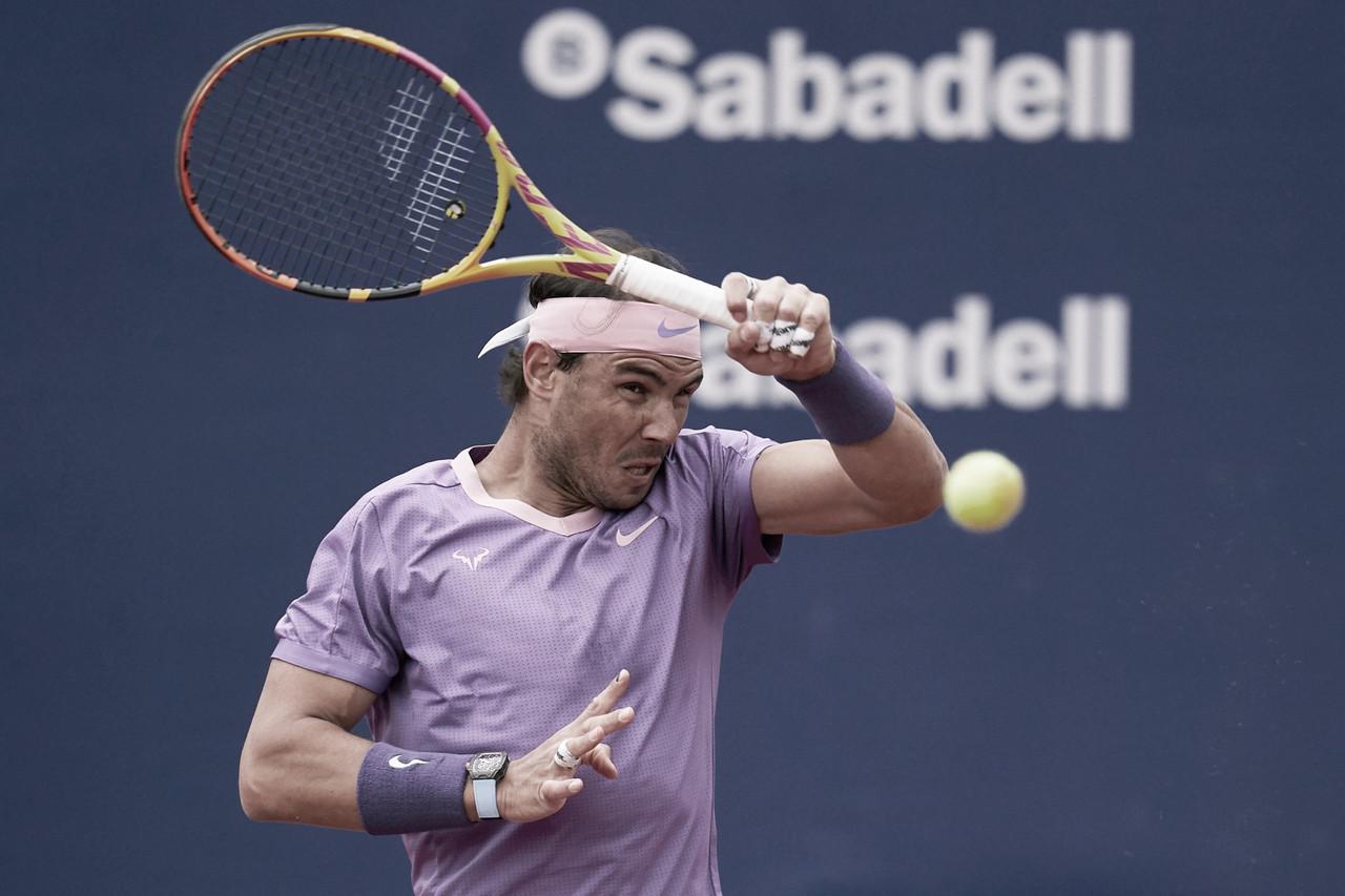 Nadal sufre en su debut en Barcelona