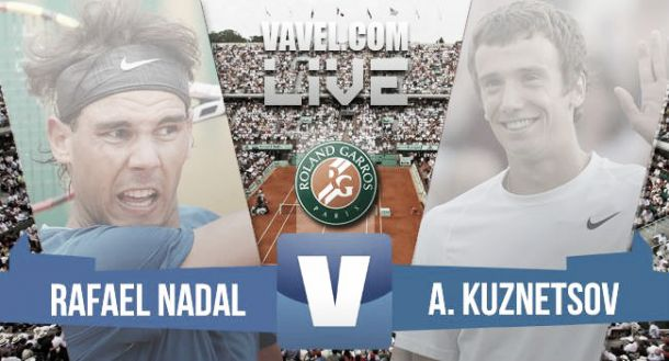 Resultado Nadal vs Kuznetsov en Roland Garros 2015 (3-0)