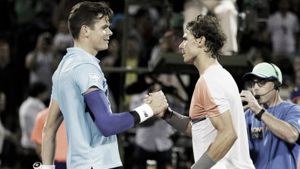 Rafael Nadal suffers defeat in quarter-final shock to Milos Raonic