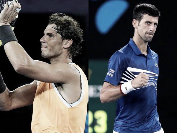 Novak Djokovic e Rafael Nadal decidem Australian Open em confronto número 53 da rivalidade