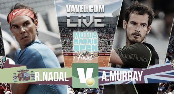 Resultado Nadal - Murray en la final del Mutua Madrid Open 2015 (0-2)