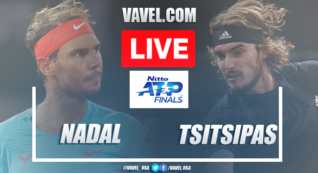 Nadal vs Tsitsipas Live Stream Updates and Score in Nitto ATP Finals