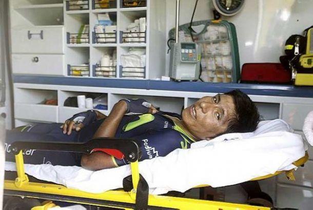 Nairo Quintana sufrió desplazamiento de omoplato y abandonó la Vuelta a España