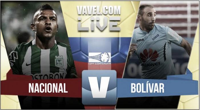 Resultado Nacional vs Bolívar por la Copa Sudamericana 2016 (1-0)