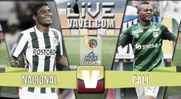 Resultado Atlético Nacional - Deportivo Cali en la Liga Águila 2015 (3-0)
