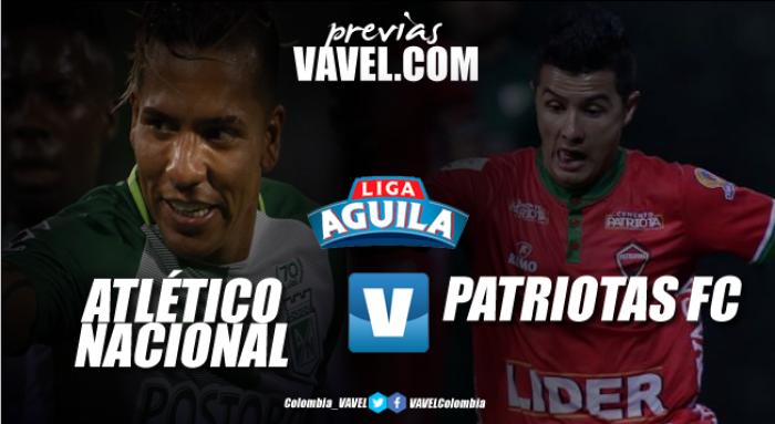 Previa Atlético Nacional - Patriotas FC: Los 'verdolagas' van por el liderato