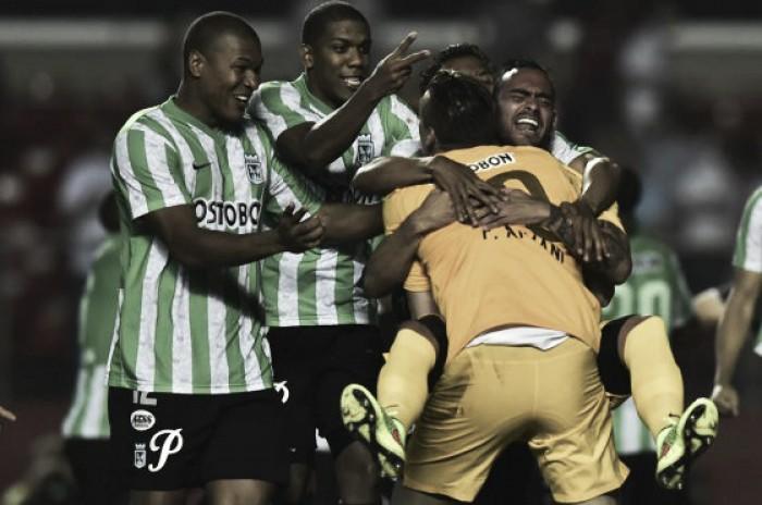 Atlético Nacional en semifinales continentales