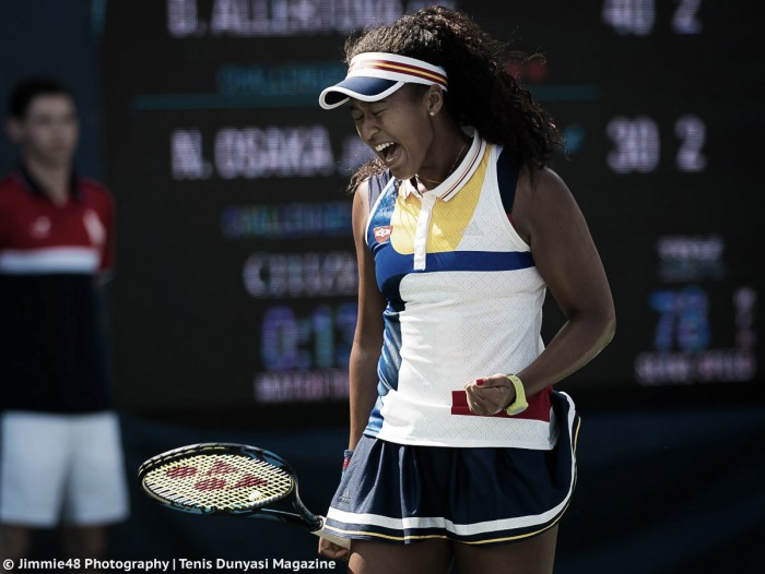 US Open: Naomi Osaka steers to tough three-set victory over Denisa Allertova