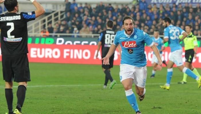 Napoli - Atalanta, Serie A 2016 (2-1): sblocca e raddoppia Higuain, accorcia Freuler