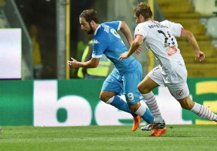 Risultato Napoli - Carpi, Serie A 2015/16 (1-0): sblocca Higuain dal dischetto