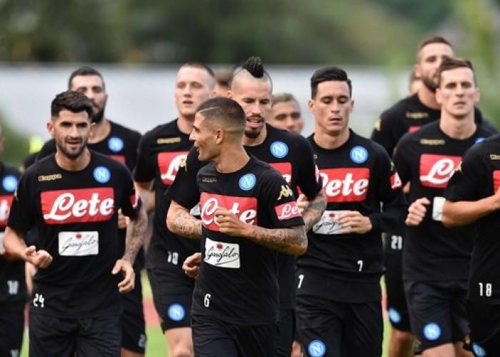Napoli, primo allenamento a Dimaro: Ounas subito nel tridente titolare