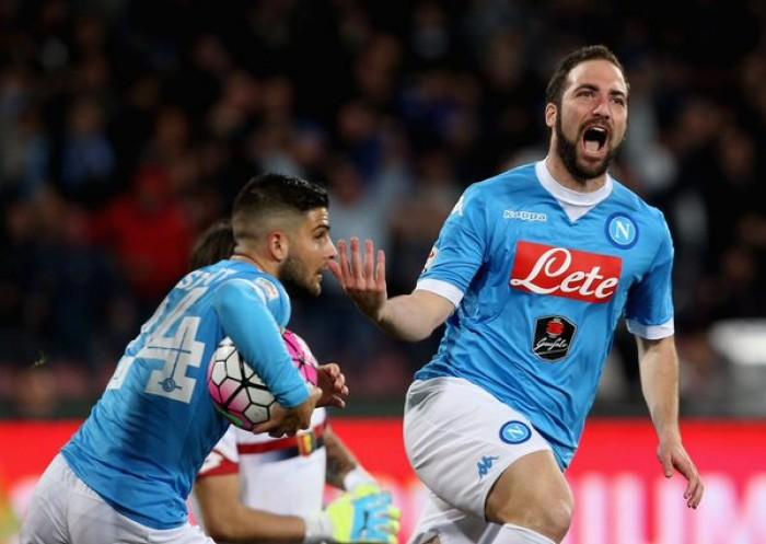 Il Napoli s'illumina di Higuain: rimonta il Genoa e mette il secondo posto in tasca (3-1)