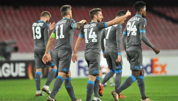 Europa League, il Napoli fa sei su sei: schiantato il Legia (5-2)