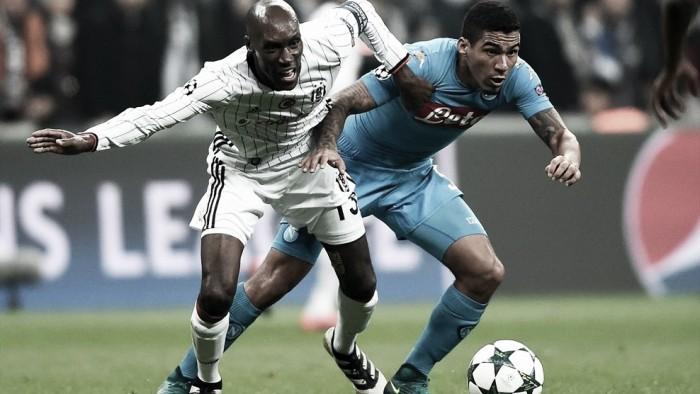 Napoli arranca empate com Besiktas e mantém liderança do Grupo B
