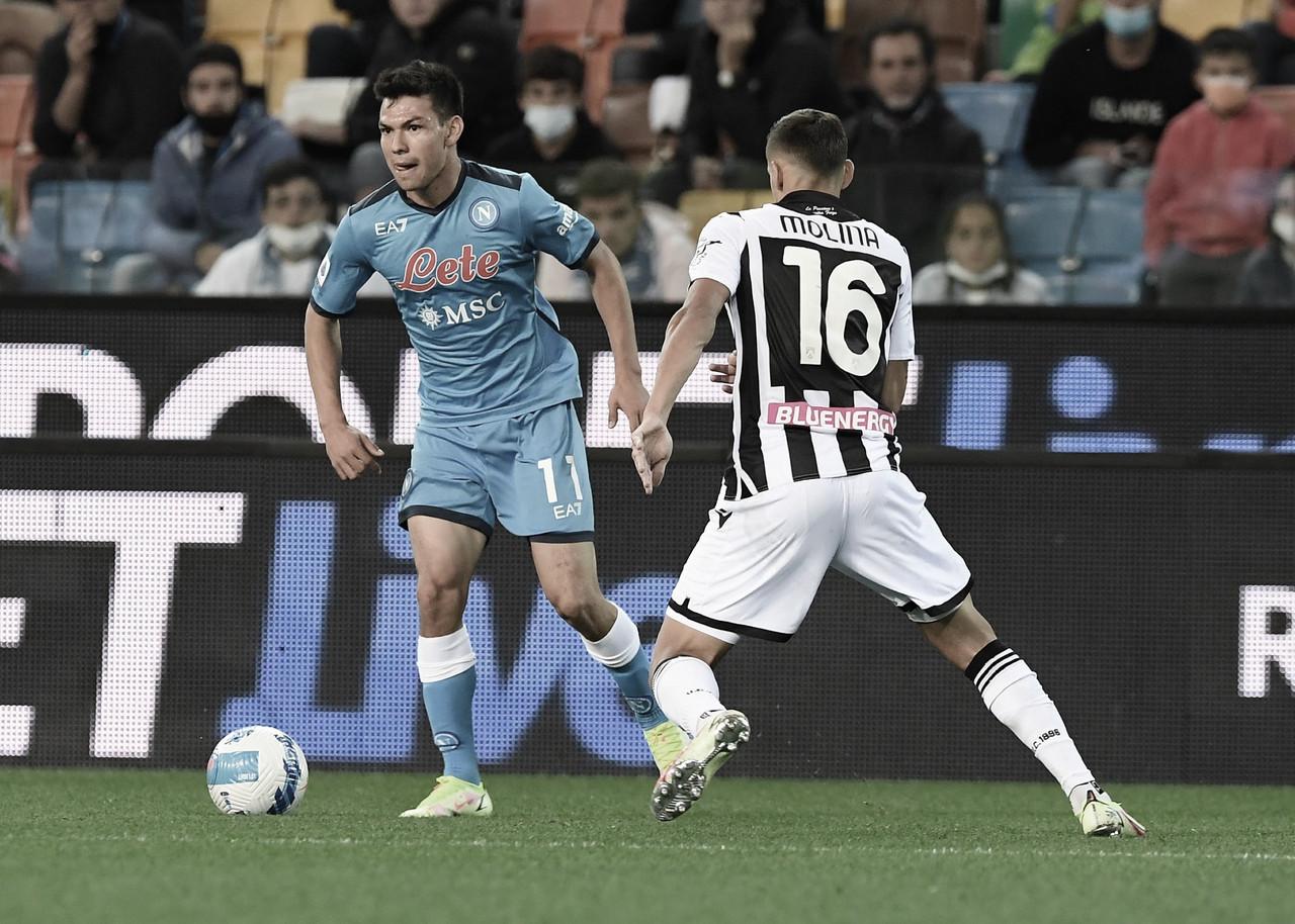 Napoli goleia Udinese fora de casa e assume liderança isolada na Serie A