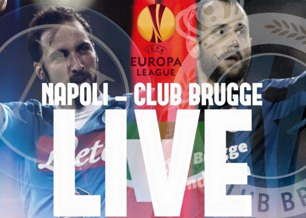 Live Napoli - Club Brugge, risultato partita Europa League 2015/16  (5-0)