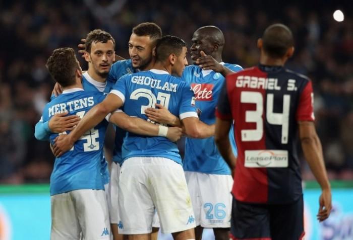 Il solito Higuain salva il Napoli: doppietta decisiva al Genoa. ma Napoli che brividi