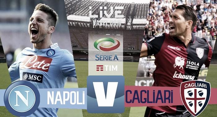 Napoli - Cagliari in Serie A 2016/17 (3-1): Napoli secondo per una notte!