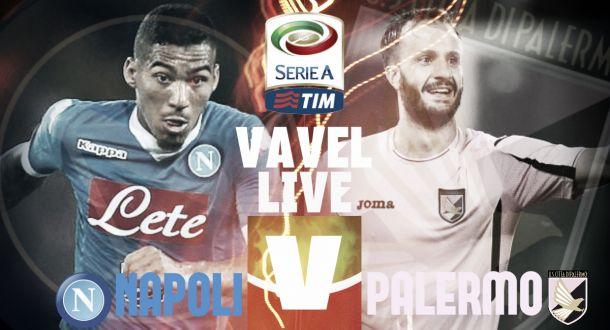 Live Napoli - Palermo, risultato partita Serie A 2015/16  (2-0)