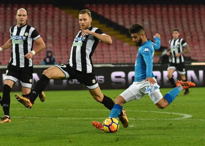 Coppa Italia: Napoli avanti a fatica contro l'Udinese. Decide Insigne