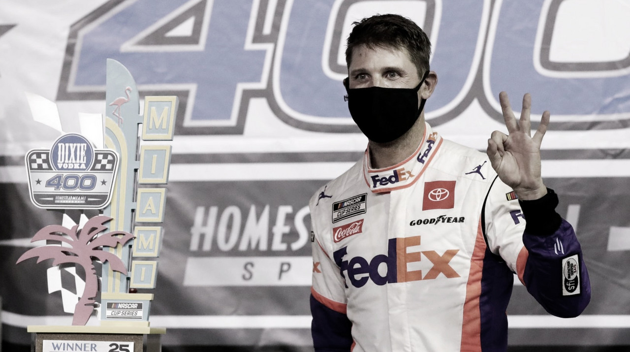 NASCAR Cup: Hamlin domina en Homestead