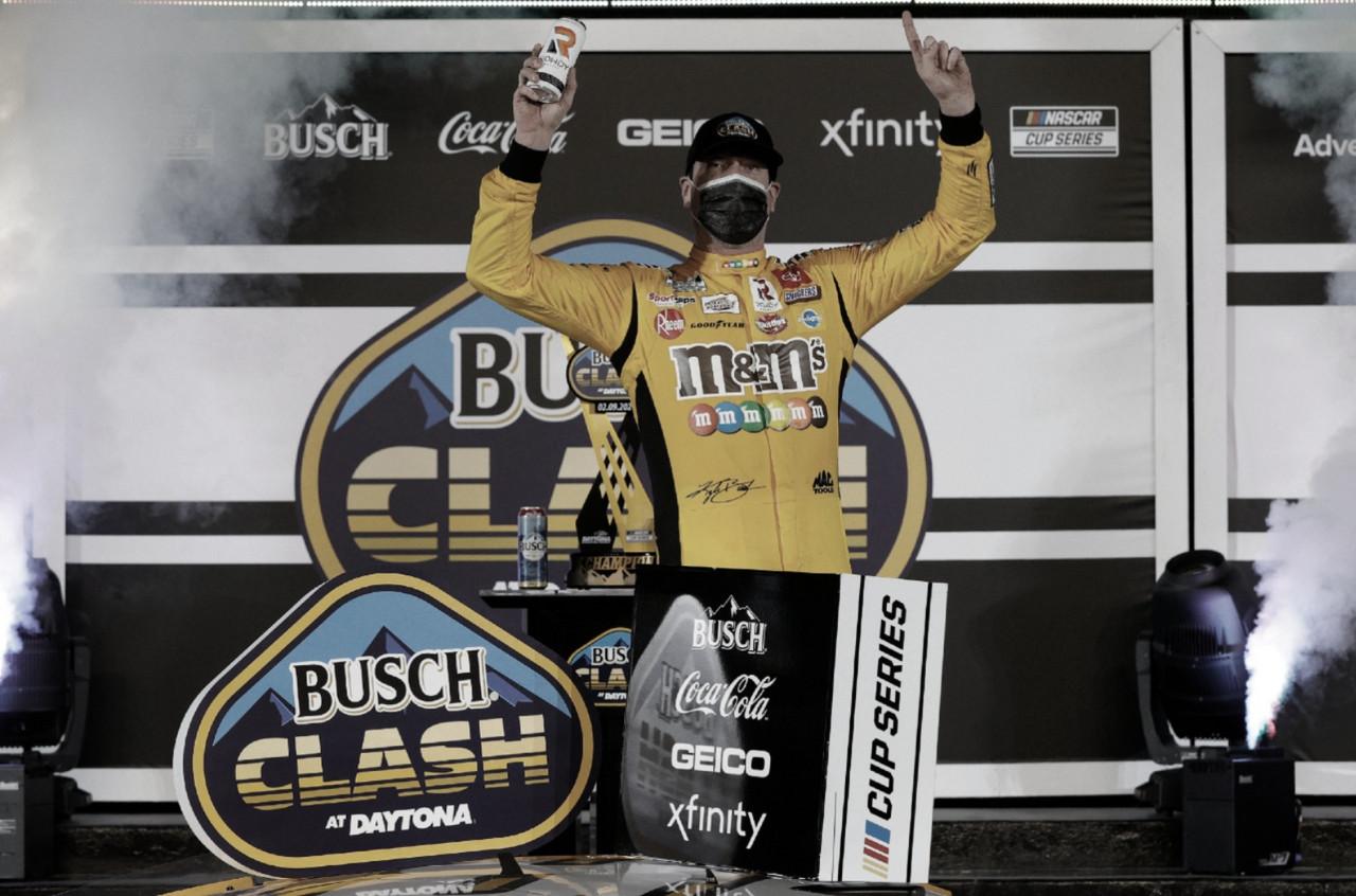 NASCAR Cup: Sobre el final, Kyle Busch se quedó con el Clash