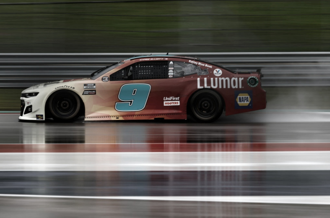 NASCAR Cup: Elliott celebró bajo la lluvia en COTA
