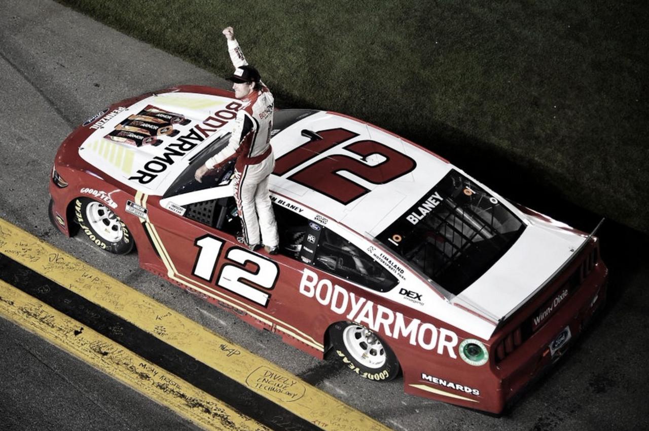 NASCAR Cup: Blaney ganó una carrera accidentada en Daytona