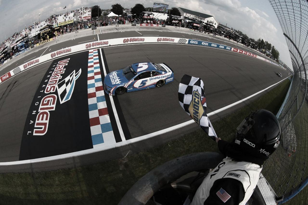 NASCAR Cup: Larson ganó en el regreso a Watkins Glen