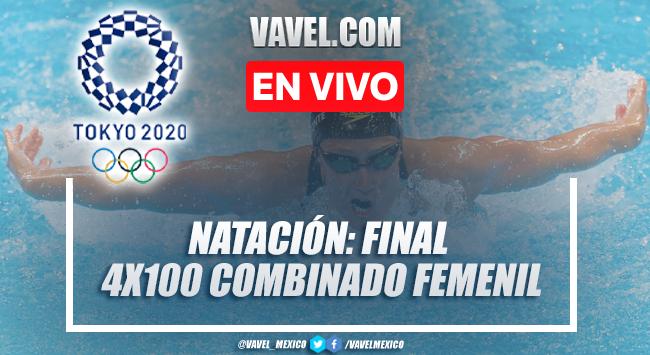 Resumen y mejores momentos: final natación relevo 4x100 combinado femenil en Tokio 2020