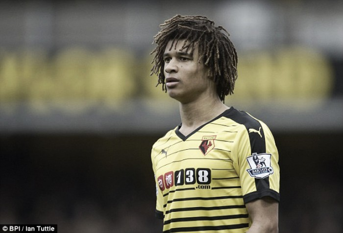 Nathan Ake collects Watford's Young Player of the Year award