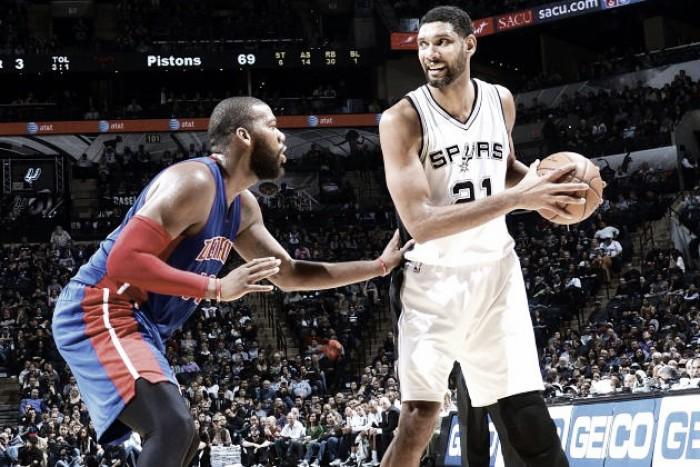 NBA: Spurs derrotam Pistons e garantem playoffs