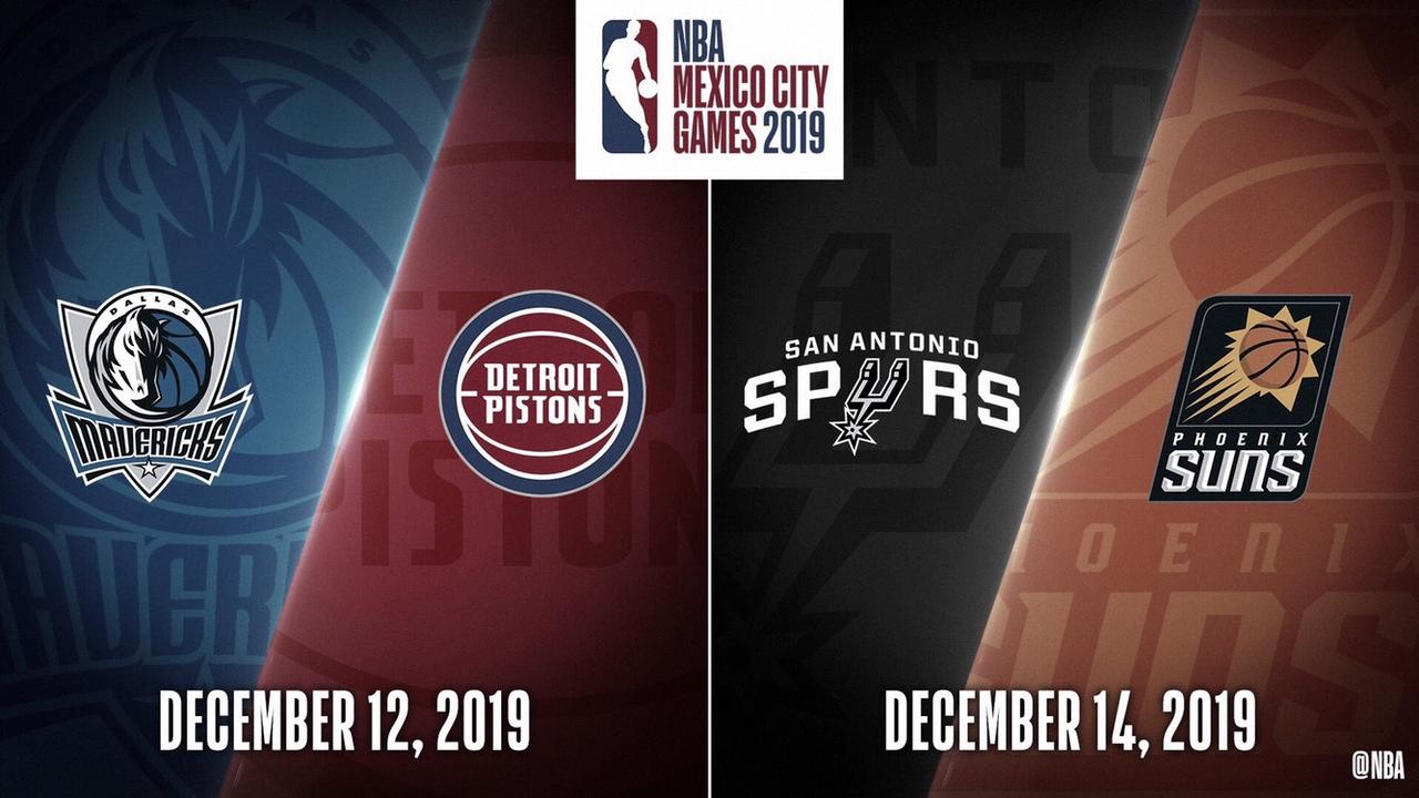 La NBA anuncia los 'Mexico City Games' 2019