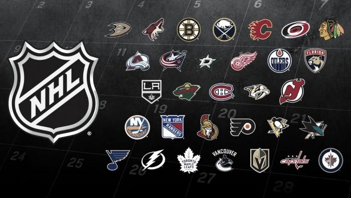 Listado de las 'Bye weeks' en las diferentes franquicias NHL