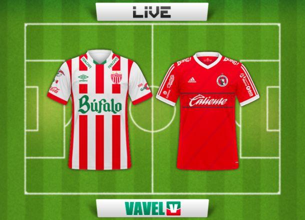 Resultado Necaxa vs Xolos en vivo y en directo online en la Copa MX 2015