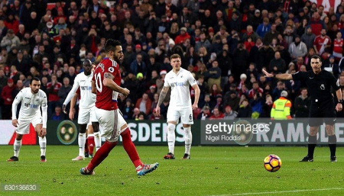 Boro hold Swansea to stalemate in South Wales