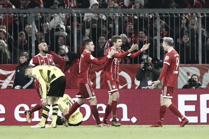 Bayern resolve no primeiro tempo, supera Borussia Dortmund e segue vivo na Copa da Alemanha